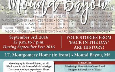 Mound Bayou Event on September 3