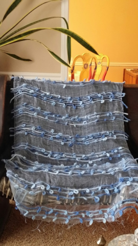 Blue Sheer Shawl