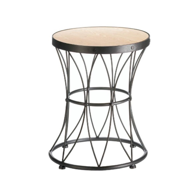 Metal Frame Accent Stool from The Spinster's Shoppe, LLC