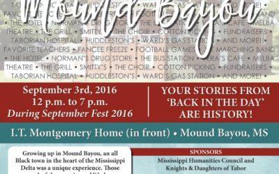 Mound Bayou Event on September 3