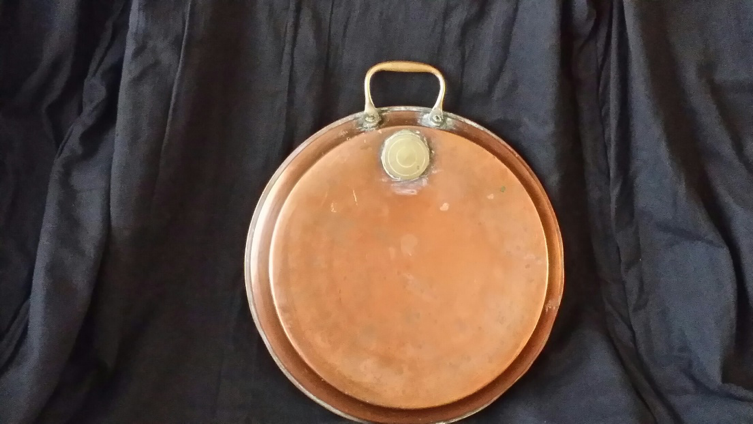 Antique English Copper Bed Warmer