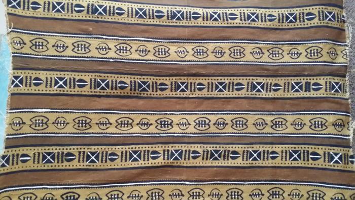 Mud Cloth Wall Hanging with Adinkra Symbols from Mali
